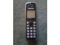 Cordless Panasonic telephone - base, handset and charger