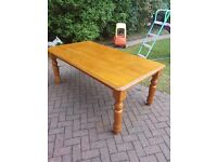Large wooden dining room / office Table (Free Local delivery)