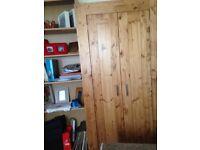 Two Door Wood wardrobe