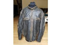 Marc New York by Andrew Marc worn leather jacket/ motorcycle jacket EXTRA LARGE