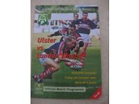 Six Ulster Rugby Programmes