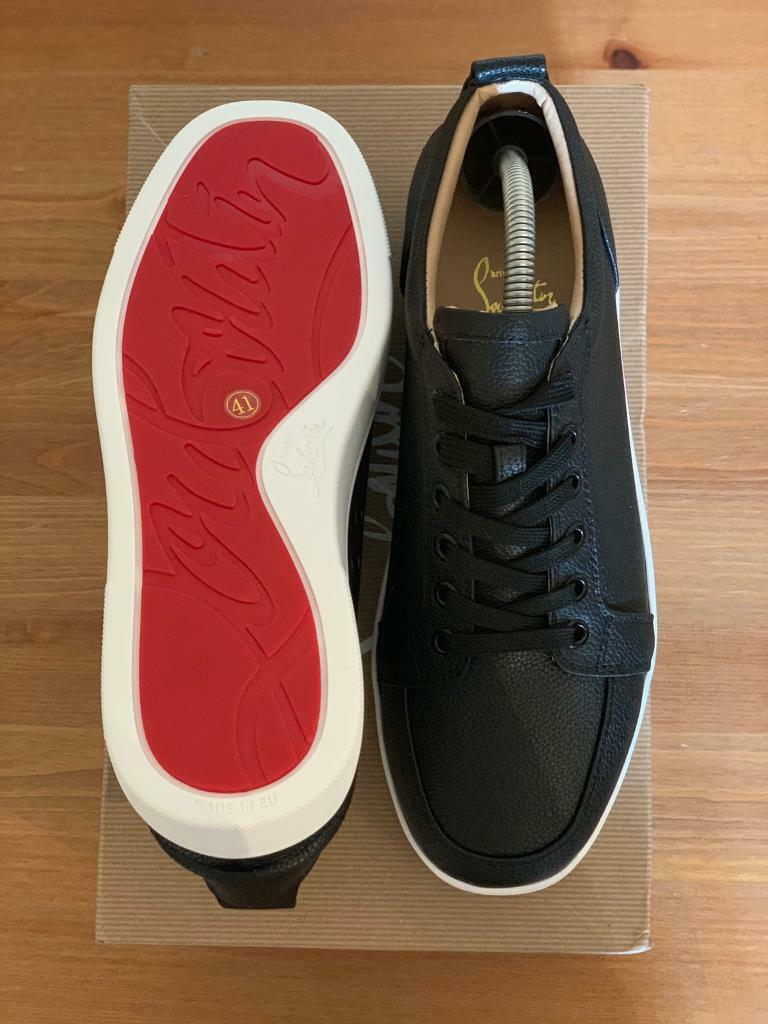 check out f6c8c 03048 Christian Louboutin Low Leather black/white UK 8 EU 42loubs red bottoms  blood | in Stratford, London | Gumtree