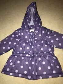 Beautiful Next Baby Girls Coat Age 3-6 Months