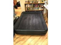 King size air bed with built in electric pump