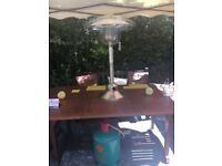Table top Patio Heater & Gas bottle