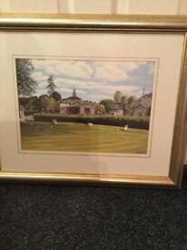 Framed Print Of Dunnikier Park Golf Course.(10th Tee )