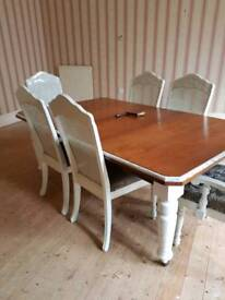 Beautiful extending dining table and 6 chairs. Open to offers (May deliver)