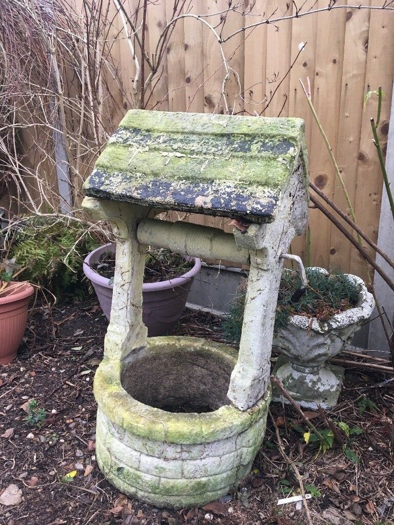 FREE GARDEN WISHING WELL STONE / CEMENT ORNAMENT