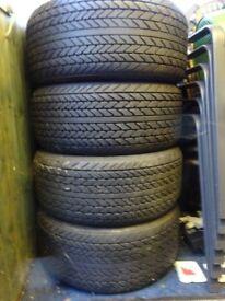 4 X PIRELLI P7 TYRES 275/55/15VR £60