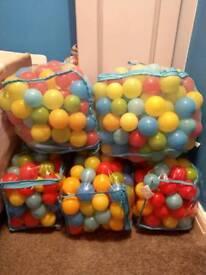 5 FULL bags of Ball Pool Balls