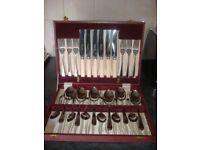 vintage dessert cutlery set in original box