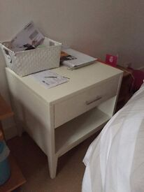 West Elm white Bedside Table