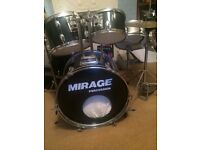 Drum kit for sale (5 drums,cymbals,stool) £50