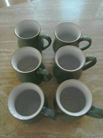 Denby regency green mugs as new.