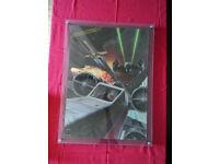 STAR WARS 1977 ORIGINAL FAN CLUB POSTER ART BY RALPH MCQUARRIE X WING DEATH STAR TIE FIGHTER LUKE