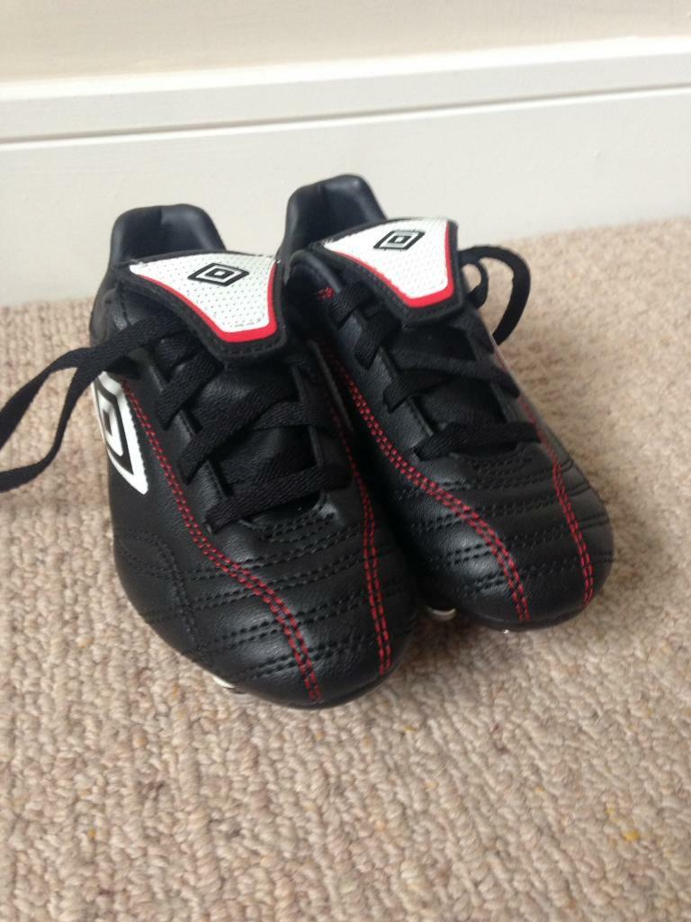 New football boots size 13 and size 1, also two used pair of shoes