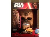 Chewbaccca Mask,New in Box, Star Wars. Electronic voice/sounds activated