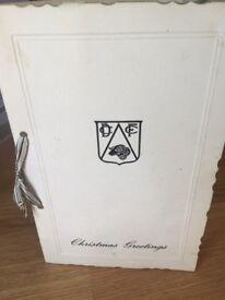 Dcfc vintage Christmas card 1967