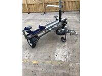 single bike side loading trailer