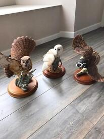 Franklin mint owls