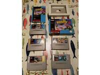 5 x Super Nintendo games