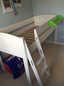 Child's Stompa mid sleeper bed