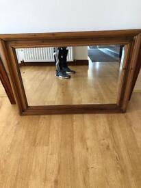 Antique Pine Mirror