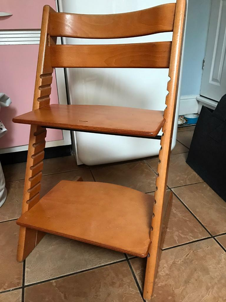 Stokke high chair cherry - Stokke Tripp Trapp Chair High Chair In Cherry Wood