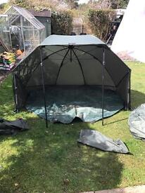 DAIWA MISSION FISHING BROLLY WITH GROUNDSHEET AND BIVVY OVERWRAP