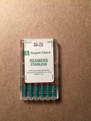 Dental Reamers Super-dent Size 35-25mm Pack Of 6