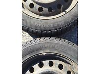 5 stud TOYOTA fitment steel wheels with used 205/55/16 tyres