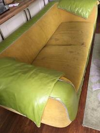 Green and Yellow Sofa **Need to go asap**