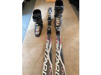Men's skis and boots bundle