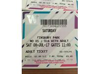 3 Wireless festival tickets. All day Saturday 8th July £390