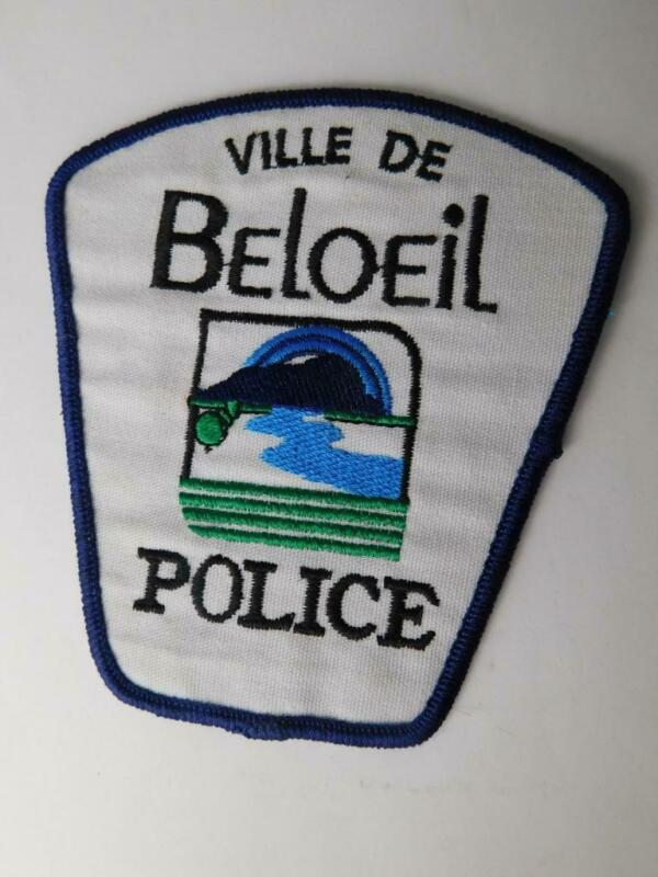 VILLE DE BELOEIL POLICE QUEBEC VINTAGE PATCH  CREST BADGE UNIFORM CANADA