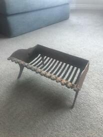 Antique fire grate/ fire basket