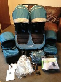 CAN POST EXC CON BABY JOGGER CITY MINI DOUBLE TWINS DUO PRAM PUSHCHAIR & CARRYCOTS FOOTMUFFS R/COVER