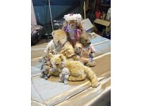 Collection of Antique Teddies and a Doll
