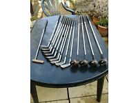 GOLF CLUBS - FULL SET & TROLLEY & BAG