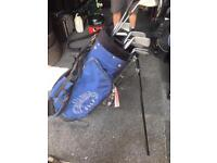Callaway golf bag and clubs
