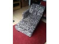 Zebra Print Chaise Lounge