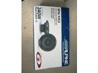 """New Alpine SPG-17C2 6.5"""" 2-Way Co-axial Car Speakers. 240W/60W RMS"""