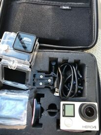 Go Pro Hero 4 Silver Perfect Condition