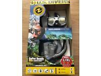 U.S. Divers GoPro Ready Adult L/XL Snorkeling Set - Snorkel Mask Fins & Mesh Bag