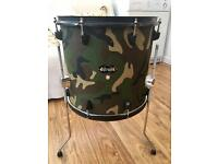 ddrum diablo combat wrapped in desert storm camofluage canvas material - 15x14 Floor Tom
