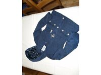 Girls navy coat, age 9-10, TU Sainsburys