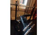 Gym Equipment Bench weights barbell dumbel Olympic weights Squat rack