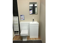 EX DISPLAY Compact White Gloss WC & Basin Unit **RRP £800**