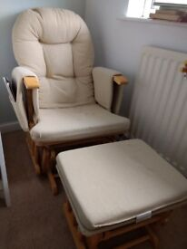 Rocking Nursery Chair and Footstool