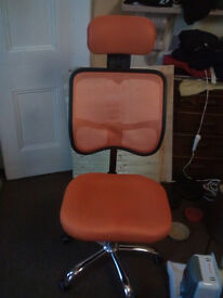Chair office orange 1 month old